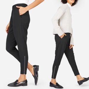 Everlane Black The Japanese GoWeave Zip Track Pant